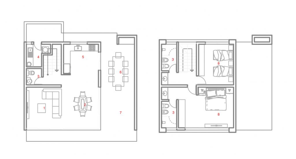 plano amarilis arquitectura estandarq