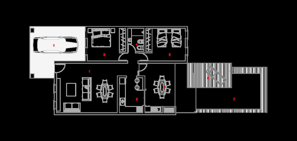 plano jazmines estandarq arquitectura